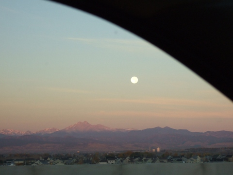 Moon on Rocky Mountains