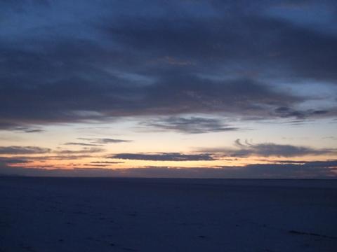 Dawn at Salt Flats