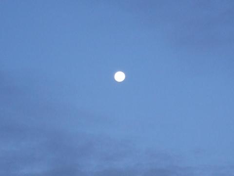 Full Moon at Salt Flats