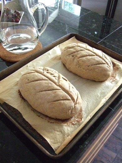 ライ麦パン:二次発酵終了。