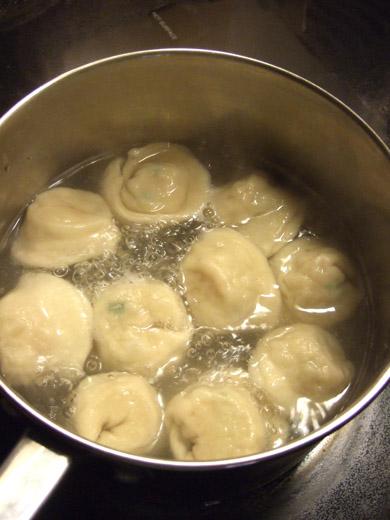 手作り餃子:水餃子